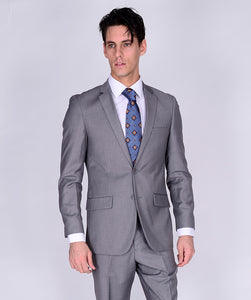 C67901-4 Carlo Lusso Collection 2-PC Men's Suit - Light Gray