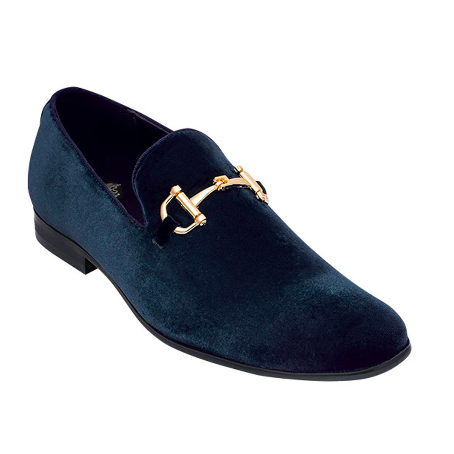 Navy Blue Loafer Shoe