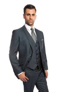 MENS SUIT 3-PC SLIM FIT SUITS M250S