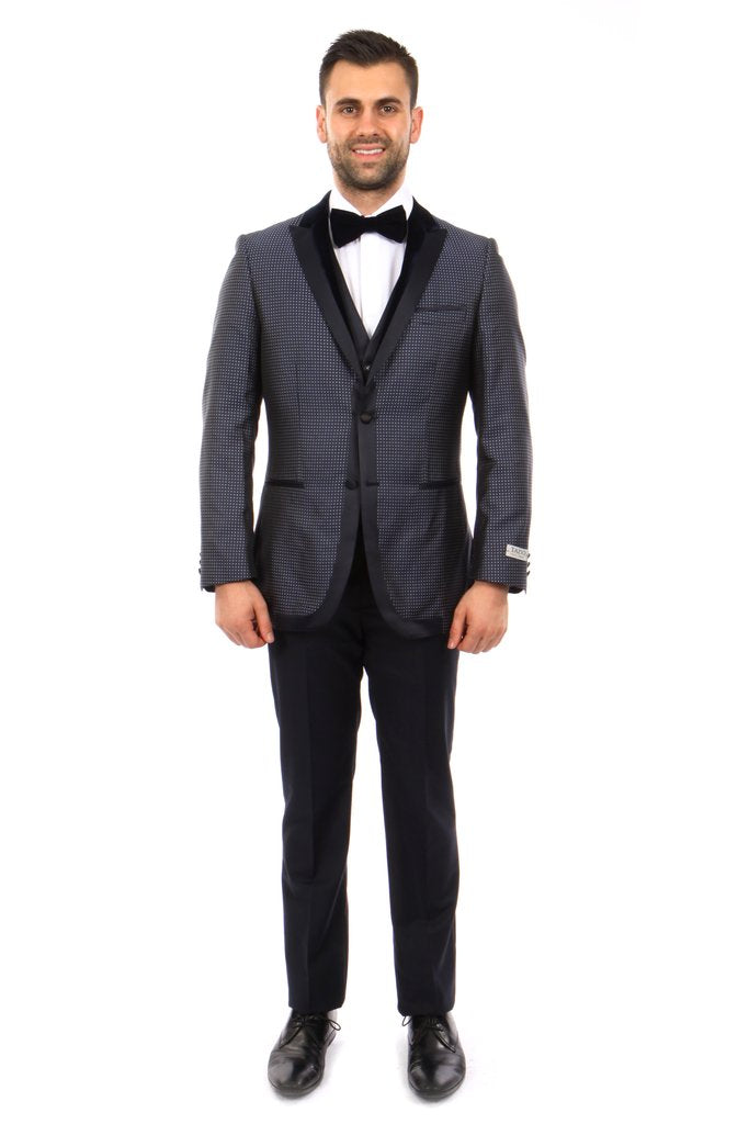 MENS SUIT 3-PC SLIM FIT SUITS M251S