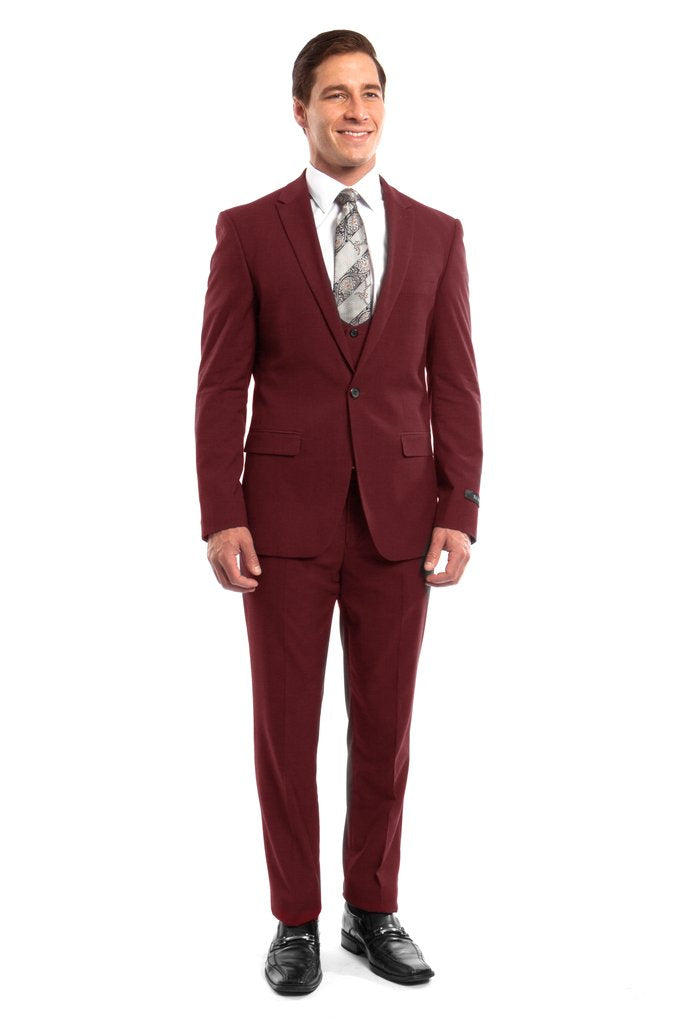 MENS SUIT 3-PC SLIM FIT SUITS M255US