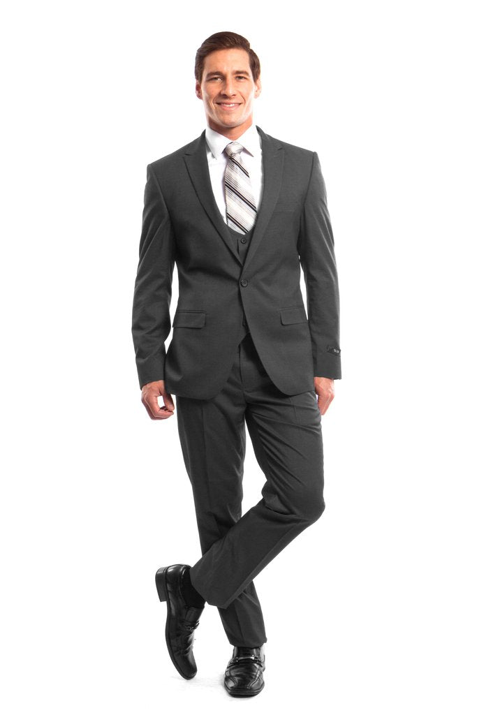 MENS SUIT 3-PC SLIM FIT SUITS M257US