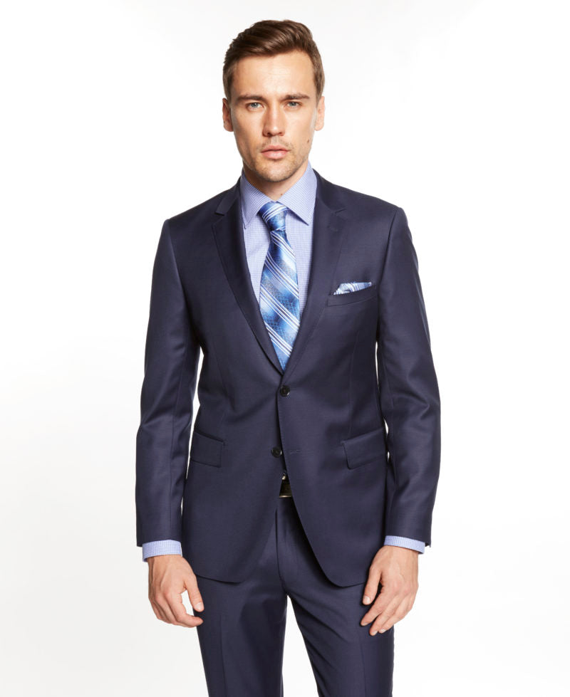 M40901-6 Mantoni Collection 2-PC 100% Wool Men's Suit - French Blue