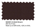 M40901-8 Mantoni Collection23-PC 100% Wool Men's Suit - Brown