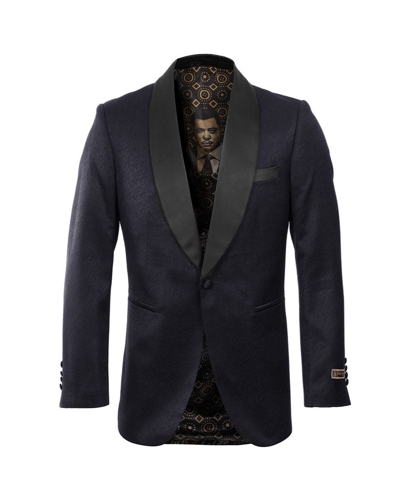 EMPIRE SHAWL COLLAR HYBRID/SLIM FIT BLAZER JACKET ME241