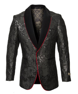 EMPIRE SHAWL COLLAR HYBRID/SLIM FIT BLAZER JACKET ME276H