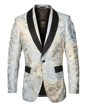 EMPIRE SHAWL COLLAR HYBRID/SLIM FIT BLAZER JACKET ME279H