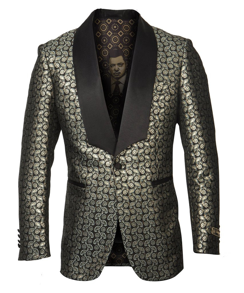 EMPIRE SHAWL COLLAR HYBRID/SLIM FIT BLAZER JACKET ME280H