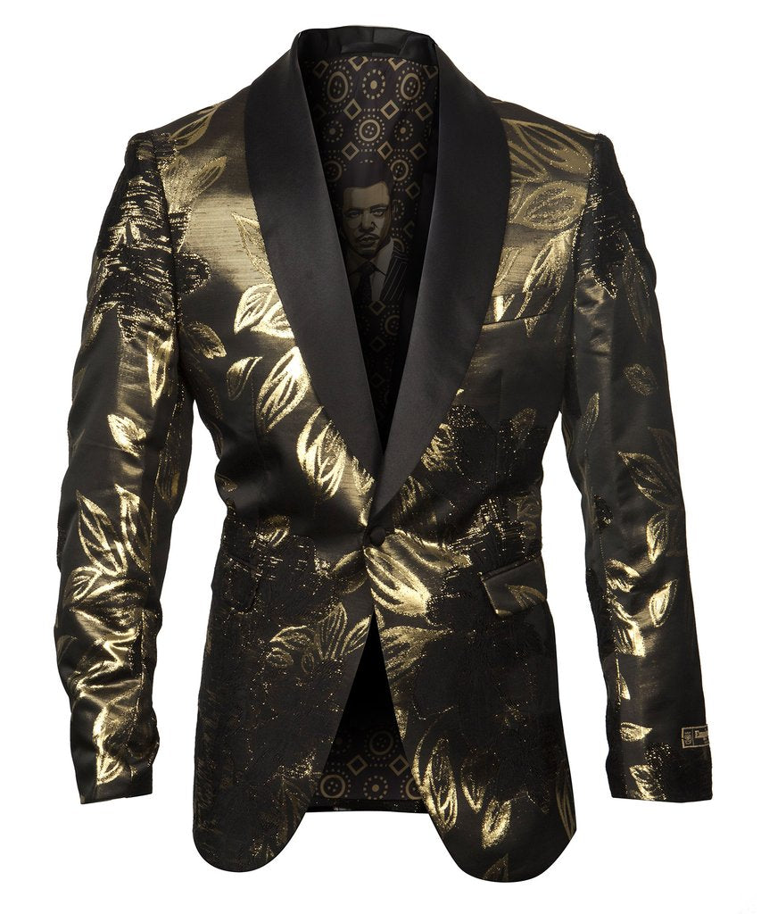 EMPIRE SHAWL COLLAR HYBRID/SLIM FIT BLAZER JACKET ME281H