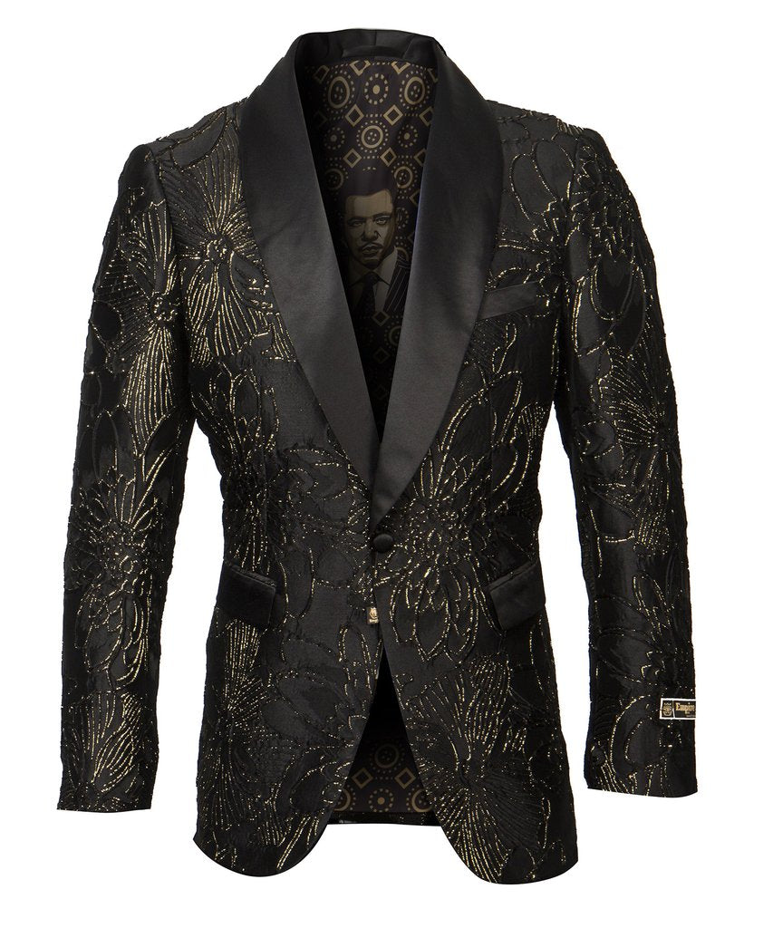 EMPIRE SHAWL COLLAR HYBRID/SLIM FIT BLAZER JACKET ME292H