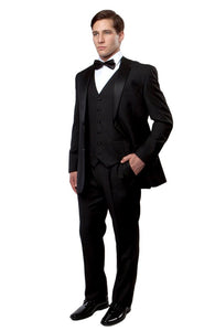 NOTCH LAPEL TUXEDO SOLID SLIM FIT PROM TUXEDOS MT400