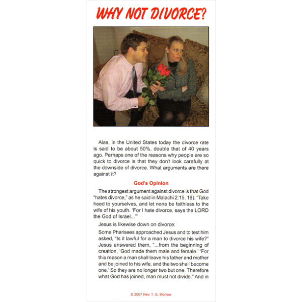 Why Not Divorce?
