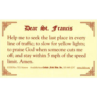 St. Francis Prayer for Safe Driving