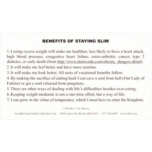 Benefits of Staying Slim