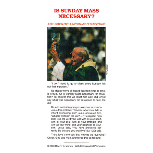 Is Sunday Mass Necessary?