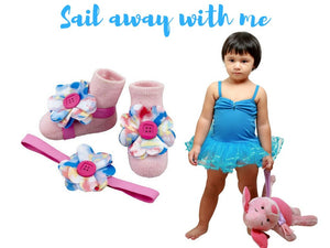Short Tutu Dress with Barefoot Sandals for 3-18 months, Baby Girl Dresses and Accessories, ZuriBabyCouture-Global