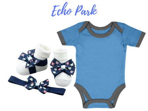 baby romper and barefoot sandals for newborn and infant available at zuri baby couture