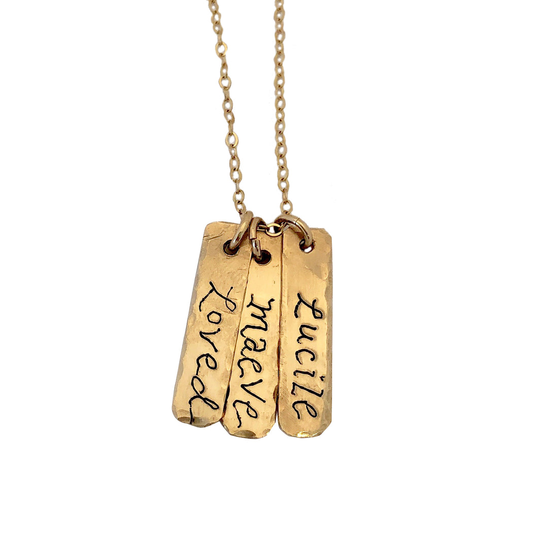 Custom TAG INITIAL & DATES NECKLACE
