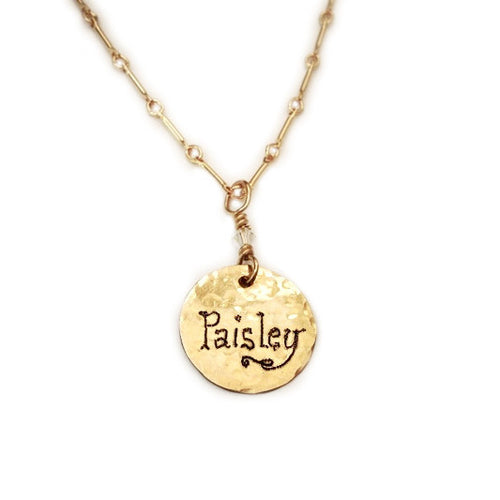ALL GOLD NAME CHARM NECKLACE jewelry by holly