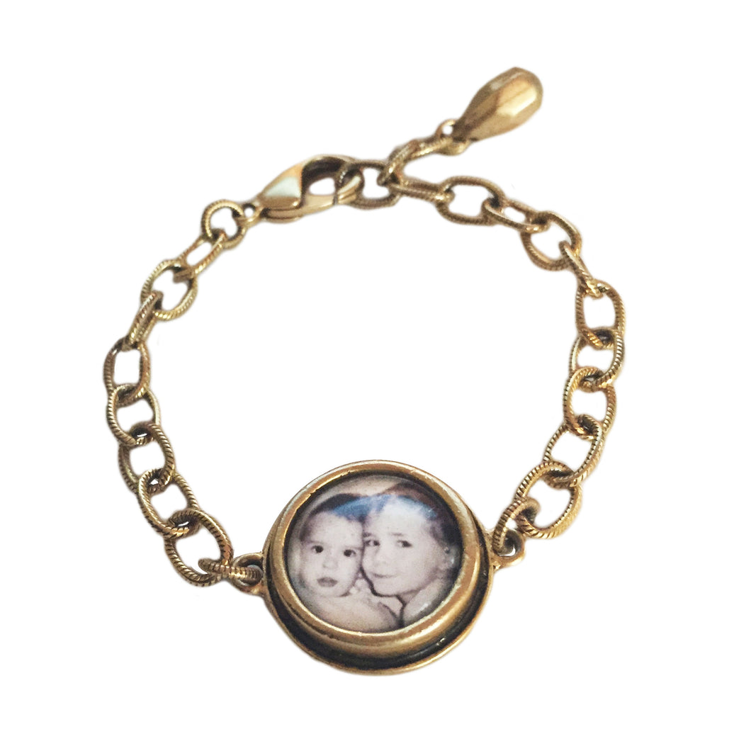 PHOTO BRACELET - Brass Large