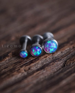 Triple Helix Earring Cartilage Earring 16g Cartilage Piercing Helix Piercing Tragus Earring Tragus Piercing Purple Fire Opal Labret