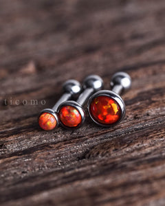 Triple Helix Earring Cartilage Earring 16g Cartilage Piercing Helix Piercing Tragus Earring Tragus Piercing Orange Fire Opal Labret