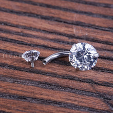 Minimalist Belly Ring Belly Button Ring Belly Button Jewelry Double Zircon Short bar 6 8 10 mm
