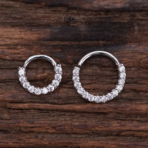 Daith Piercing Hoop Daith Hoop Earring Small Hoop Earrings Septum Ring Septum Piercing Rook Piercing Clear Zircon