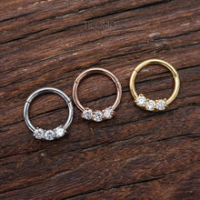 Daith Piercing Small Hoop Earring Daith Hoop Earring Septum Ring Septum Piercing 16g BCR Zircon