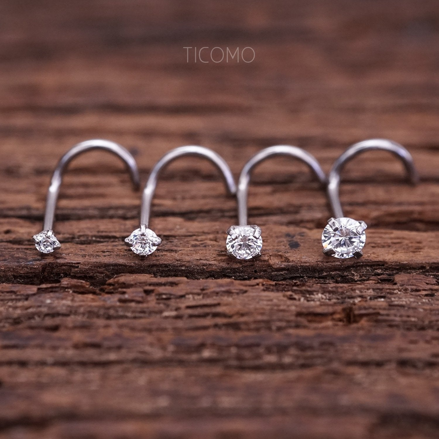 Nose Stud Nose Piercing Nose Ring Simple Base Silver Tiny Zircon