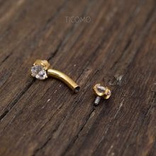 Daith Earring Daith Piercing 16g Rook Earring Rook Piercing Eyebrow Ring Snug Piercing Gold Curved Bar 6mm 8mm