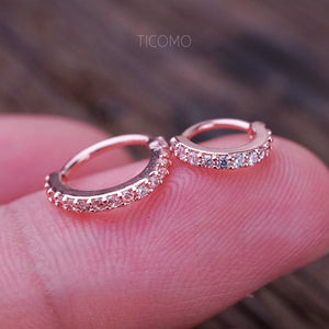 Cartilage Hoop Small Hoop Earring Helix Tiny Hoop Earring Cartilage Piercing Helix Piercing Clear Zircon