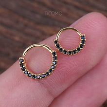 Daith Piercing Small Hoop Earring Daith Hoop Earring Septum Ring Septum Piercing Rook Piercing Rook Earring Rose Gold Silver Black Man Men