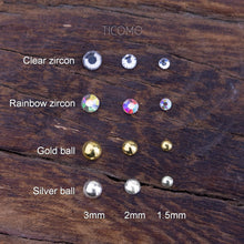 Prevent Fall Fake Nose Ring Fake Nose Stud Magnetic Piercing Tiny ball 1.5mm 2mm 3mm