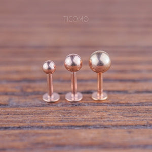 Minimalist Triple Helix Earring Cartilage Earring 16g Cartilage Piercing Helix Piercing Tragus Earring Tragus Piercing Barbell Ball