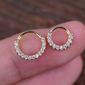 Daith Piercing Tiny Hoop Earring Small Hoop Daith Earring Septum Ring Septum Piercing Rook Piercing Zircon