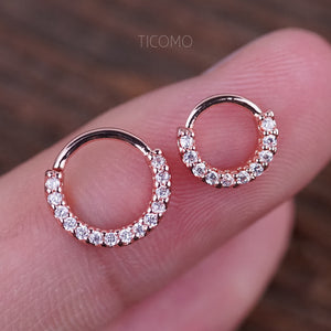 Daith Piercing Small Hoop Earring Daith Earring Tiny Gold Hoop Earring Septum Ring Septum Piercing Rook Piercing Zircon