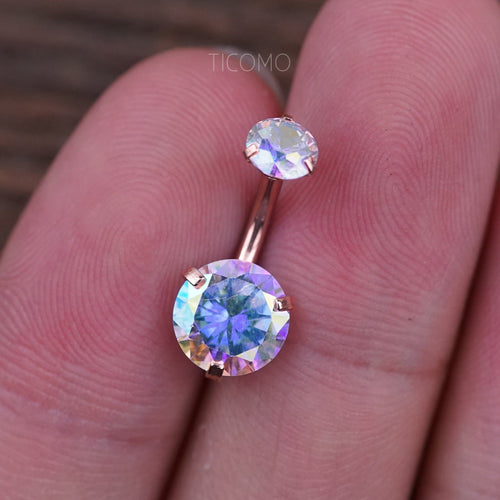 Belly Ring Belly Button Ring Belly Button Jewelry Zircon Short Bar 6mm 8mm 10mm