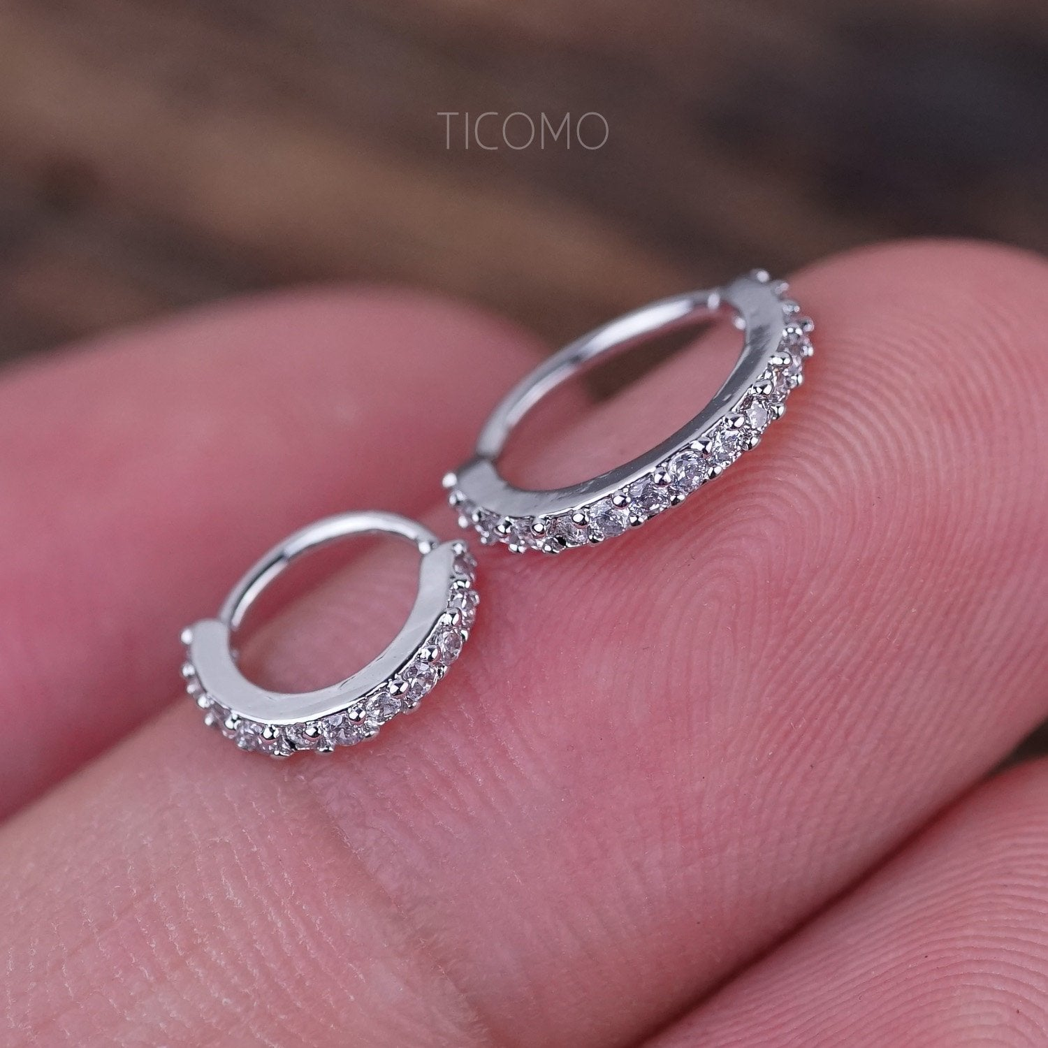 Small Silver Cartilage Hoop Earrings Tiny Helix Hoop Earring Cartilage  Piercing Helix Piercing Hoop Rose Gold Silver Small