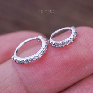 c69062f52 Small Silver Cartilage Hoop Earrings Tiny Helix Hoop Earring Cartilage  Piercing Helix Piercing Hoop Rose Gold