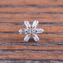 Flower Cartilage Earring 16g Helix Earring Helix Piercing Tragus Earring Tragus Piercing Cartilage Piercing Zircon