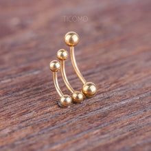 Daith Earring Daith Piercing 16g Rook Earring Rook Piercing Eyebrow Ring Snug Piercing Curved Bar Gold