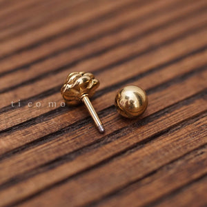 Cartilage Earring 16g Tragus Earring Helix Earring Helix Piercing Cartilage Tragus stud Cartilage Piercing Conch Piercing Gold Rose