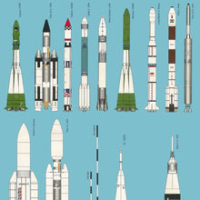 Load image into Gallery viewer, Rockets Of The World Poster (version B)