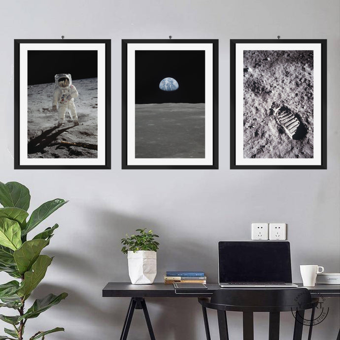Apollo 11 Mankind Landing 3 pcs Poster