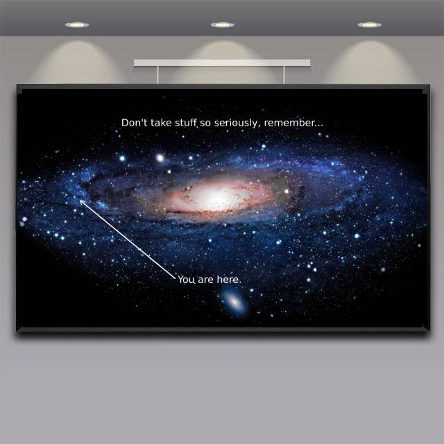You are Here in the Milky Way Poster