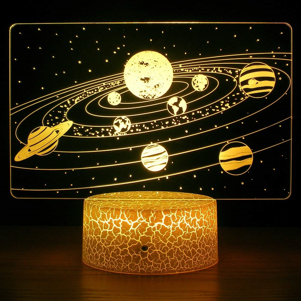 Solar System Acrylic 3D Lamp (7 colours switchable)
