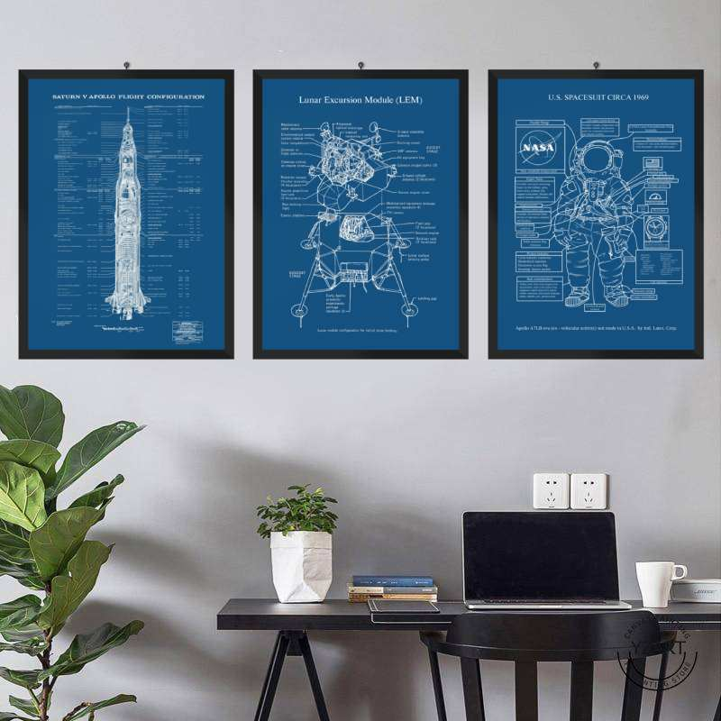 The Keys To The Moon 3 pcs Poster