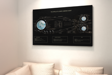 Load image into Gallery viewer, Apollo Lunar Landing Chart Poster (Remastered)