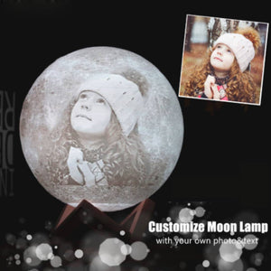 Personalized Moon Lamp - Custom Photo+Text Moon Lamp